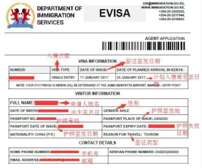 肯尼亚电子签证